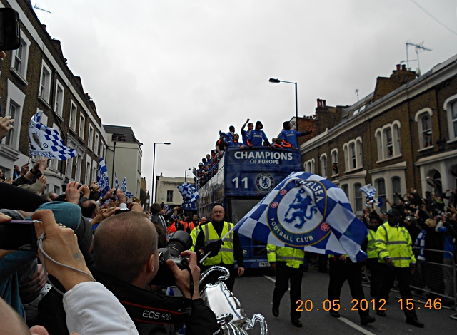 Chelsea victory parade, King's Road, 20 May 2012