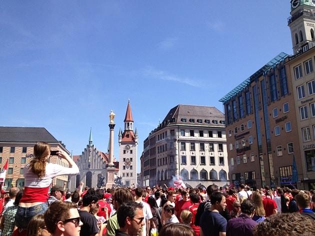 Marienplatz - Bayern central!