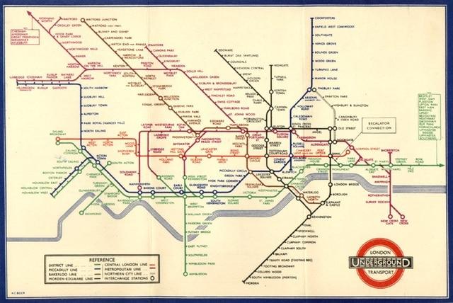 1936 Underground map
