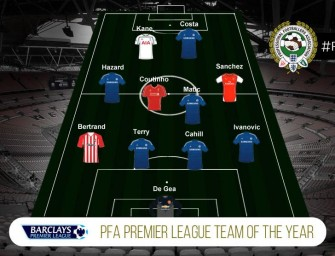 The PFA Team of the Year. Blue is the Colour.