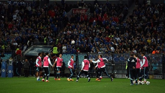 Chelsea train at the ANZ Stadium