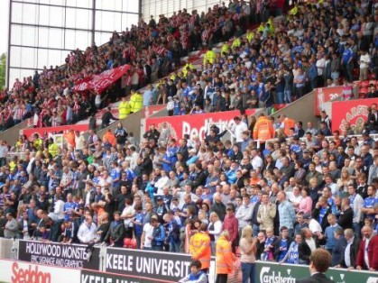 Chelsea fans at Stoke