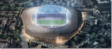 New Stamford Bridge 60,000 seater stadium
