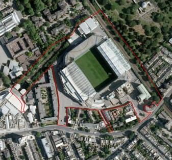 New Chelsea stadium site